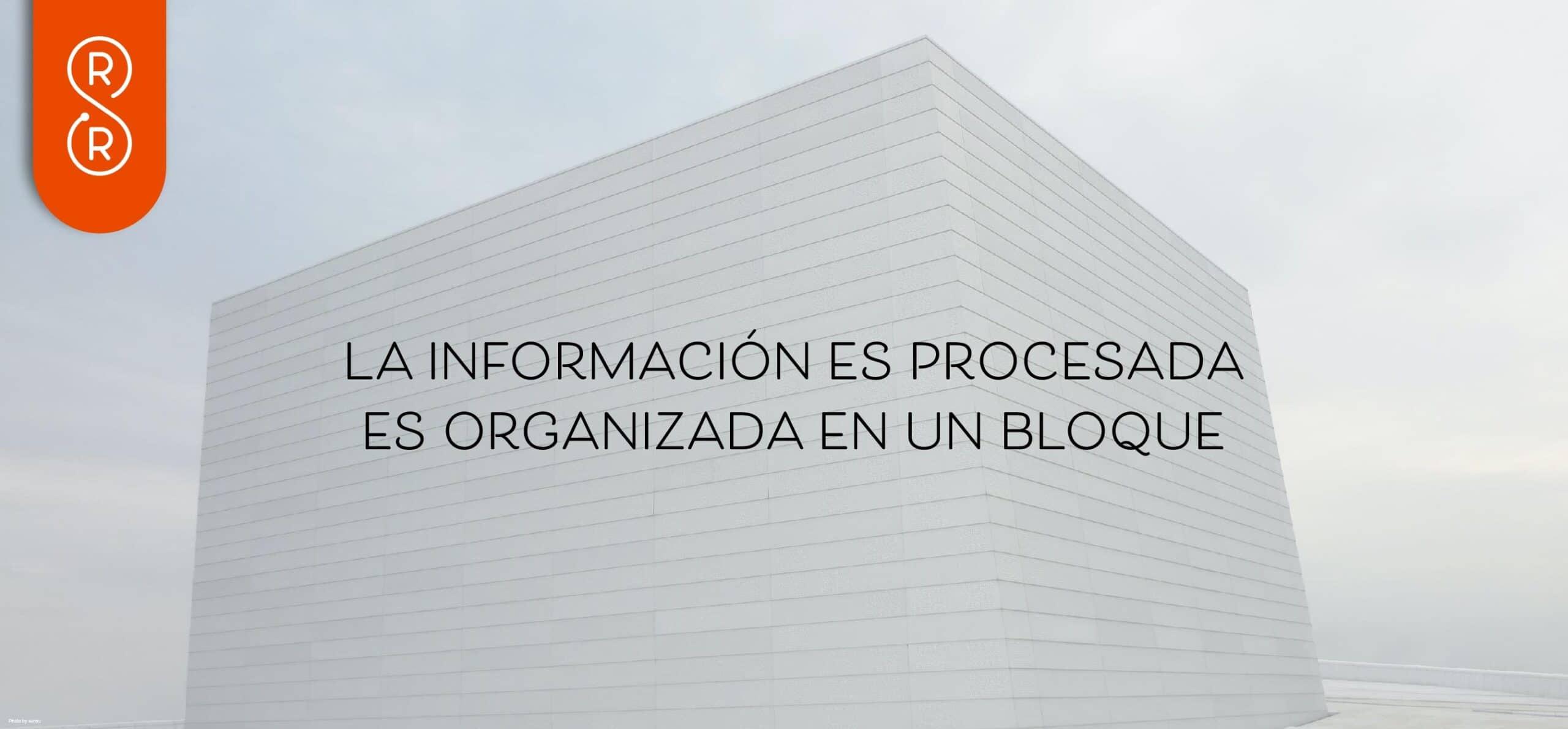 información es procesada en bloques